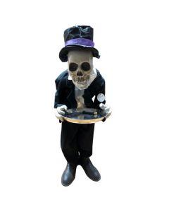 Skeleton Butler Met Licht En Geluid 100 Cm