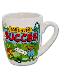 Cartoon Mok Veel succes