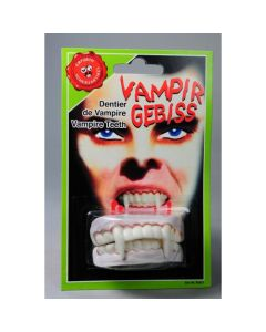 Vampire Character Teeth On Card