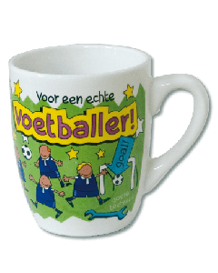Cartoon Mok Voetballer