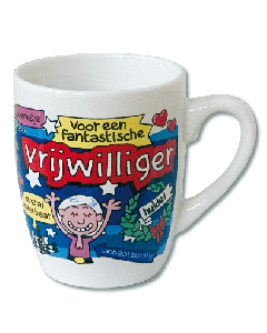 Cartoon Mok Vrijwilliger