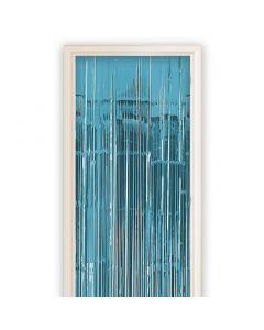 Deurgordijn Blauw