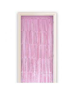 Deurgordijn Roze