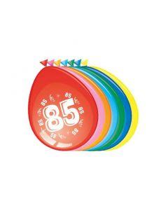Leeftijdballonnen 85 Jaar 8 Stuks