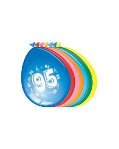 Leeftijdballonnen 95 Jaar 8 Stuks