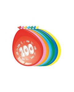 Leeftijdballonnen 100 Jaar 8 Stuks