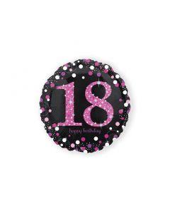 Folieballon Verjaardag 18 Jaar Roze