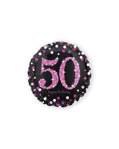 Folieballon Verjaardag 50 Jaar Roze