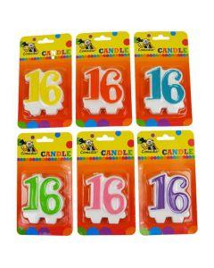 Nummerkaars 16 (7CM)
