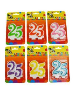 Nummerkaars 25 (7CM)
