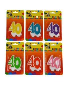 Nummerkaars 40 (7CM)
