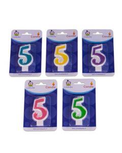 Nummerkaars 5 (7CM)