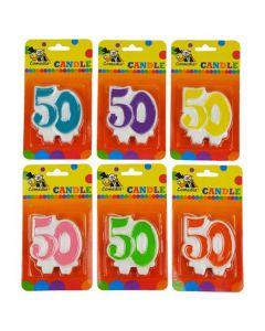 Nummerkaars 50 (7CM)