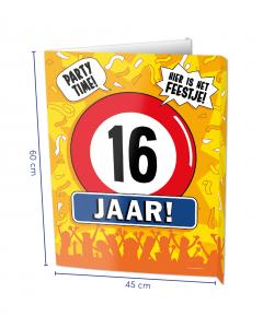 16 Jaar Raambord ( Window-sign )