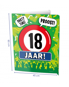 18 Jaar Raambord ( Window-sign )