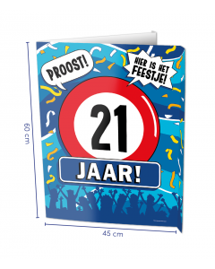 21 Jaar Raambord ( Window-sign )