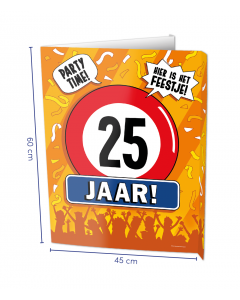 25 Jaar Raambord ( Window-singn)