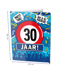30 Jaar Raambord ( Window-sign )