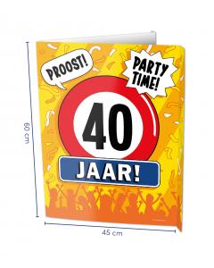 40 Jaar Raambord ( Window-Sign )
