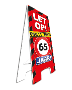 Warning Sign 65 Jaar