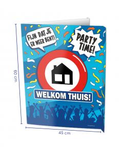 Welkom Thuis Raambord ( Window-sign )